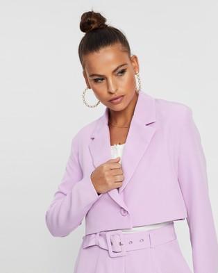 Dazie Independent Woman Cropped Blazer - Blazers (Lilac)