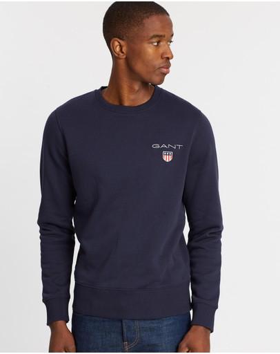 Gant Medium Shield Crew Sweater Evening Blue