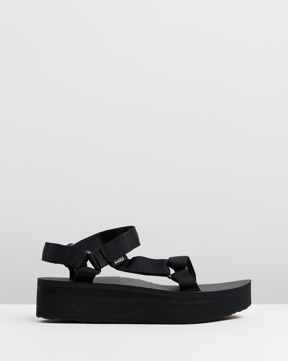 Teva Flatform Universal Womens Sandals Black