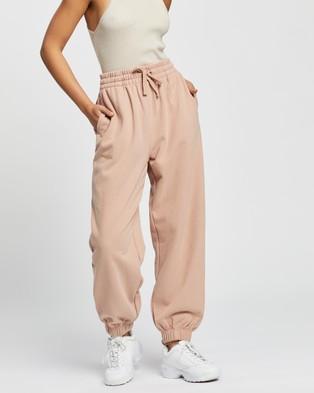 AERE Organic Cotton Sweat Pants - Sweatpants (Pink Rose)