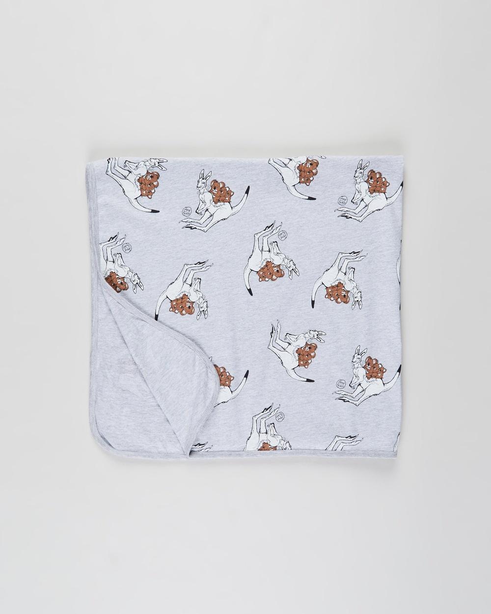 Walnut Melbourne May Gibbs Billy Blanket Wraps & Blankets Joey Grey
