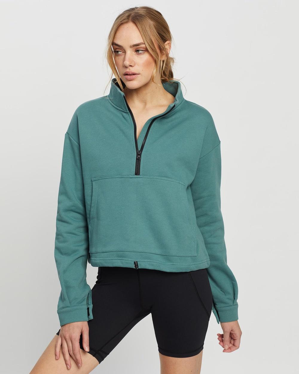 All Fenix Erin Zipper Sweater Sweats Teal