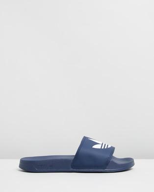 adidas Originals Adilette Lite   Unisex - Slides (Collegiate Navy & Cloud White)