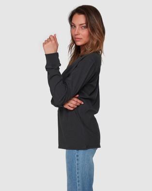 Billabong Esplanade Long Sleeve Tee - T-Shirts & Singlets (OFF BLACK)
