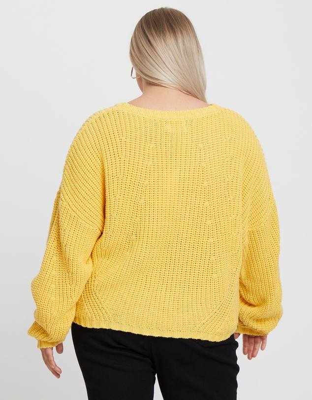 Calli Curve - Laura Cable Knit Jumper