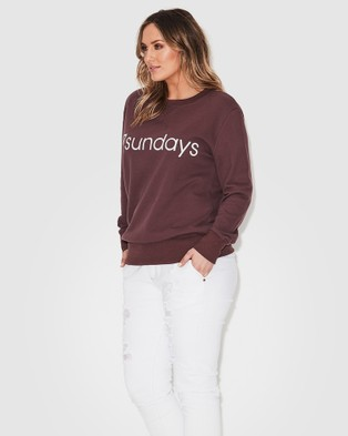 17 Sundays Logo Sweat - Jumpers & Cardigans (Purple)