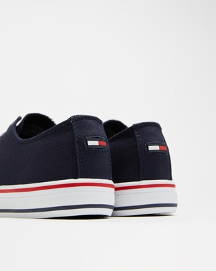 Tommy Hilfiger Long Lace Up Vulcanised Sneakers   Women's - Sneakers (Twilight Navy)