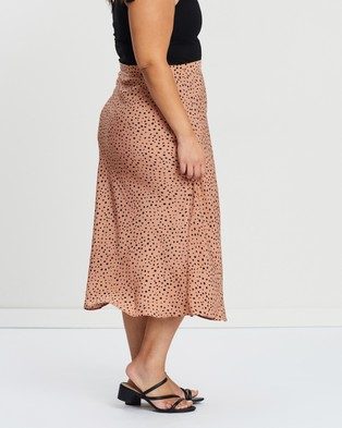 Atmos&Here Curvy Khloe Midi Skirt - Skirts (Micro Cheetah Print)