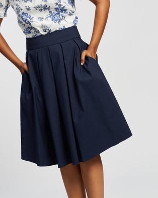 Review Bonita Skirt - Pleated skirts (Navy)