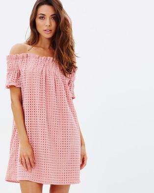 Atmos & Here – Jasmine Off the Shoulder Dress – Dresses (Pink)