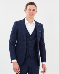 Burton Menswear - Checked Slim Fit Suit Jacket