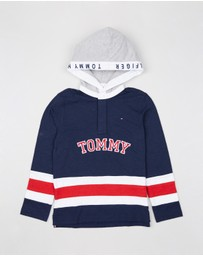 Tommy Hilfiger Kids - Cut And Sew Rugby Hoodie - Teen