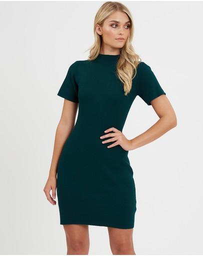 Calli Mackenzie Knit Mini Dress Emerald