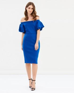 Dorothy Perkins – Jacquard Bardot Dress – Bodycon Dresses Cobalt