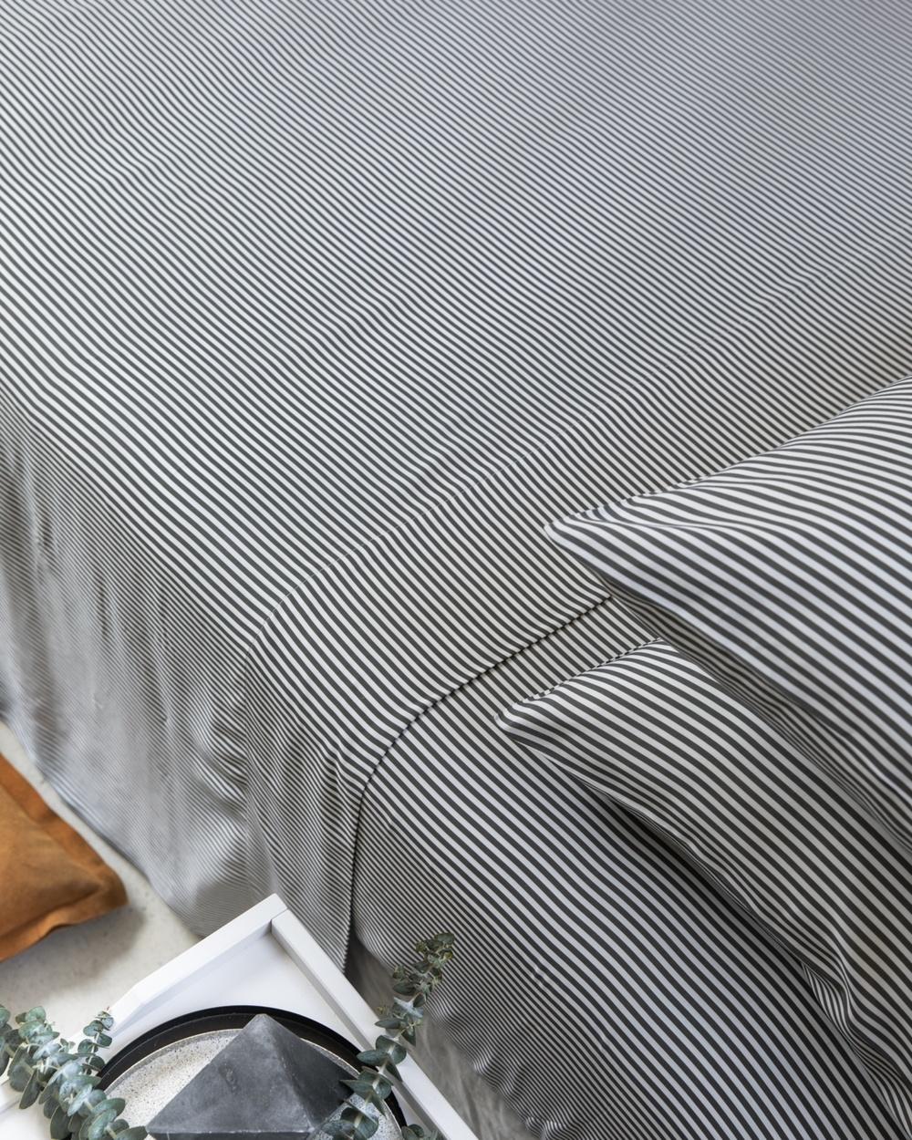 Ettitude Signature Sateen Sheet Set Home Grey Australia