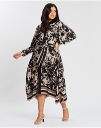 EVANS - Animal Hanky Hem Shirt Dress