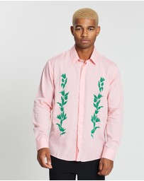 Soulland - Jarreth Flock Print Tencel Shirt