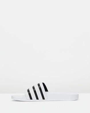 adidas Originals Adilette   Unisex - Slides (White & Black)