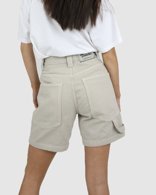 Dakota501 Carpenter Shorts - High-Waisted (Beige)