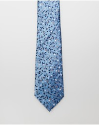 Jeff Banks - JB Silk Face Ditsy Floral Tie