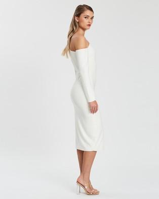 KIANNA Evelyn Off Shoulder Dress - Dresses (White)