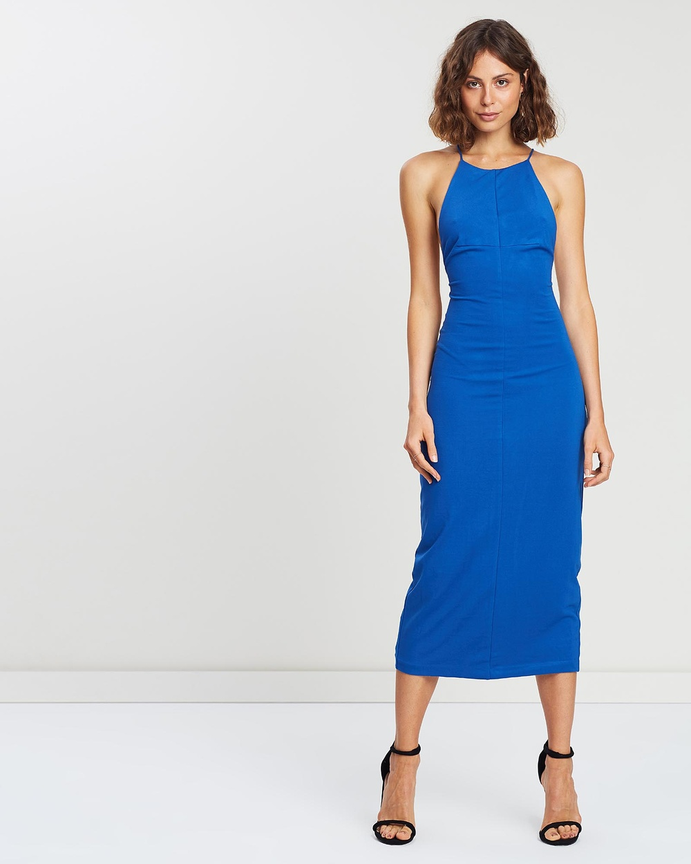 Third Form Azure Lace-Up Midi Dress