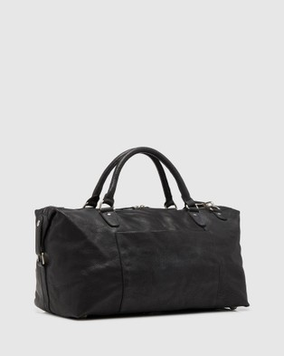 Oxford Shaw Leather Weekender Bag - Bags (Black)