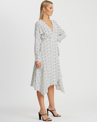 Tussah - Ellsie Midi Dress - Printed Dresses (White Speckle Spot) Ellsie Midi Dress