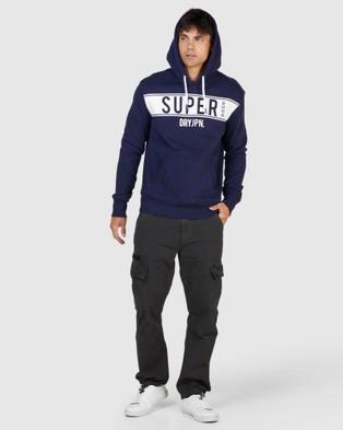Superdry SDRY Panel Hood - Sweats (Rich Navy)