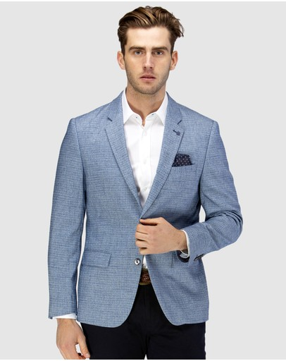Brooksfield - Crosshatch Textured Blazer