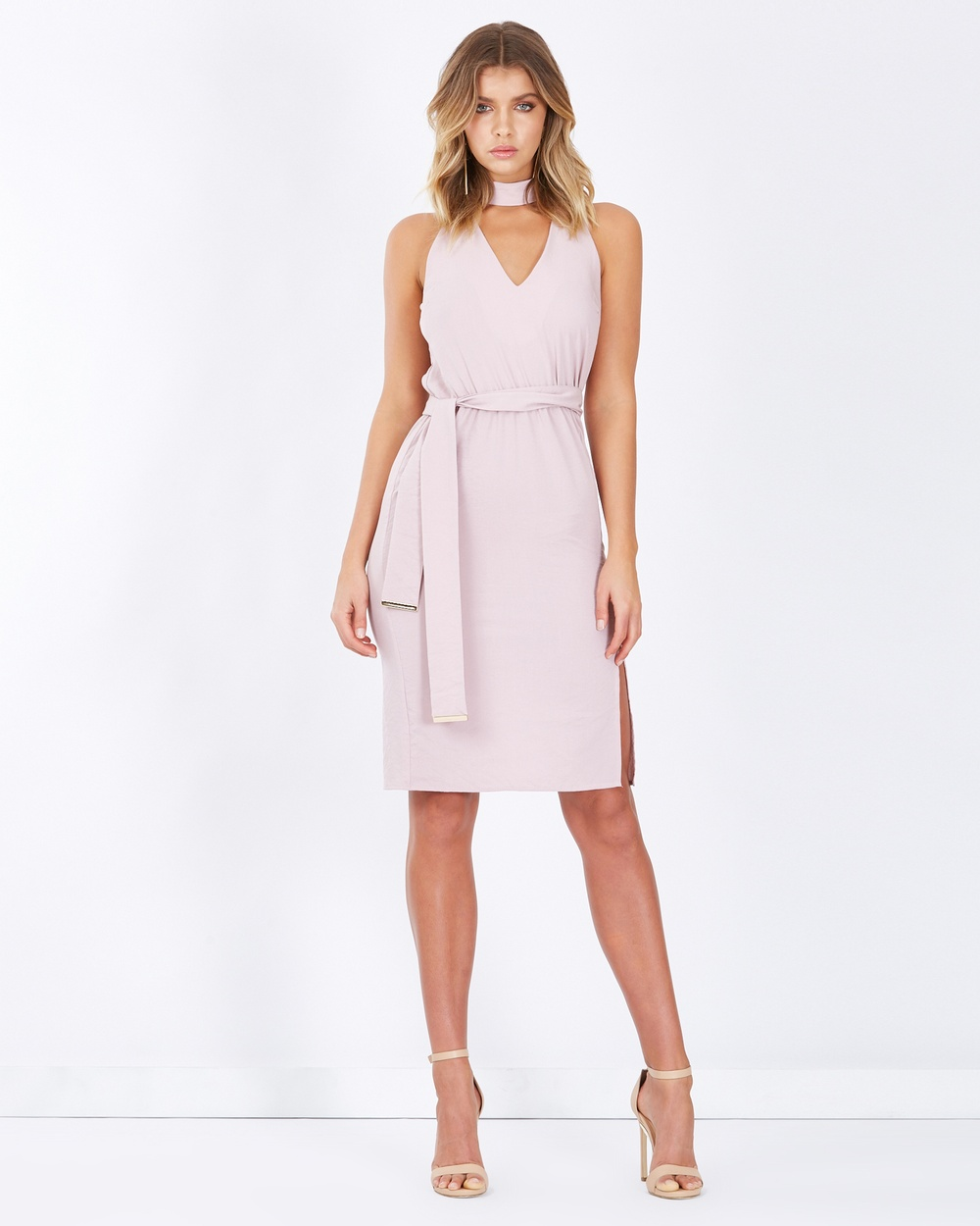 Tussah Jemina Split Hem Midi Dress Dresses Mauve Jemina Split-Hem Midi Dress