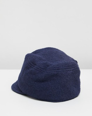 Max Alexander Fleecy Newsboy Hat Cap - Headwear (Navy)