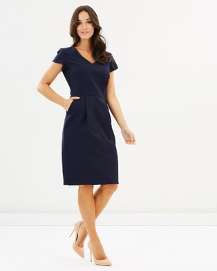 Farage – Erica Stripe Dress – Skirts Navy