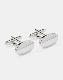 Oxford - Cufflinks Silver Oval