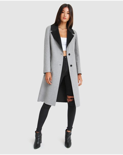 Belle & Bloom - Lexington Two-Tone Wool Blend Coat