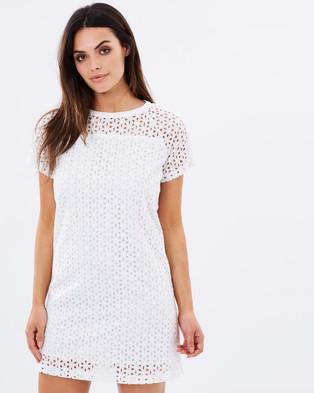 Atmos & Here – Madison Eyelet Shift Dress – Dresses (White)
