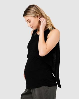 Ripe Maternity Summer Swing Back Nursing Tank - T-Shirts & Singlets (Black)