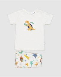 Purebaby - Short PJ Set - Babies-Kids