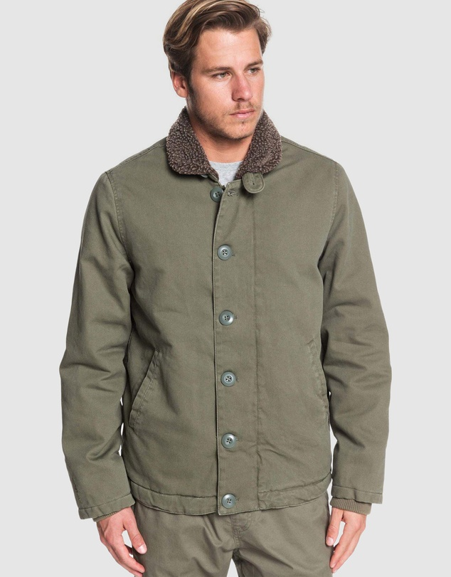 Quiksilver - Mens Waterman Stormy Weather Sherpa Lined Jacket
