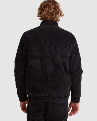 Quiksilver - Mens Rapid Organic Corduroy Bomber Jacket Coats & Jackets (Tarmac)