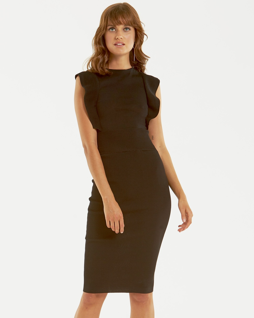 Amelius Obsessed Knit Dress Bodycon Dresses Black Obsessed Knit Dress