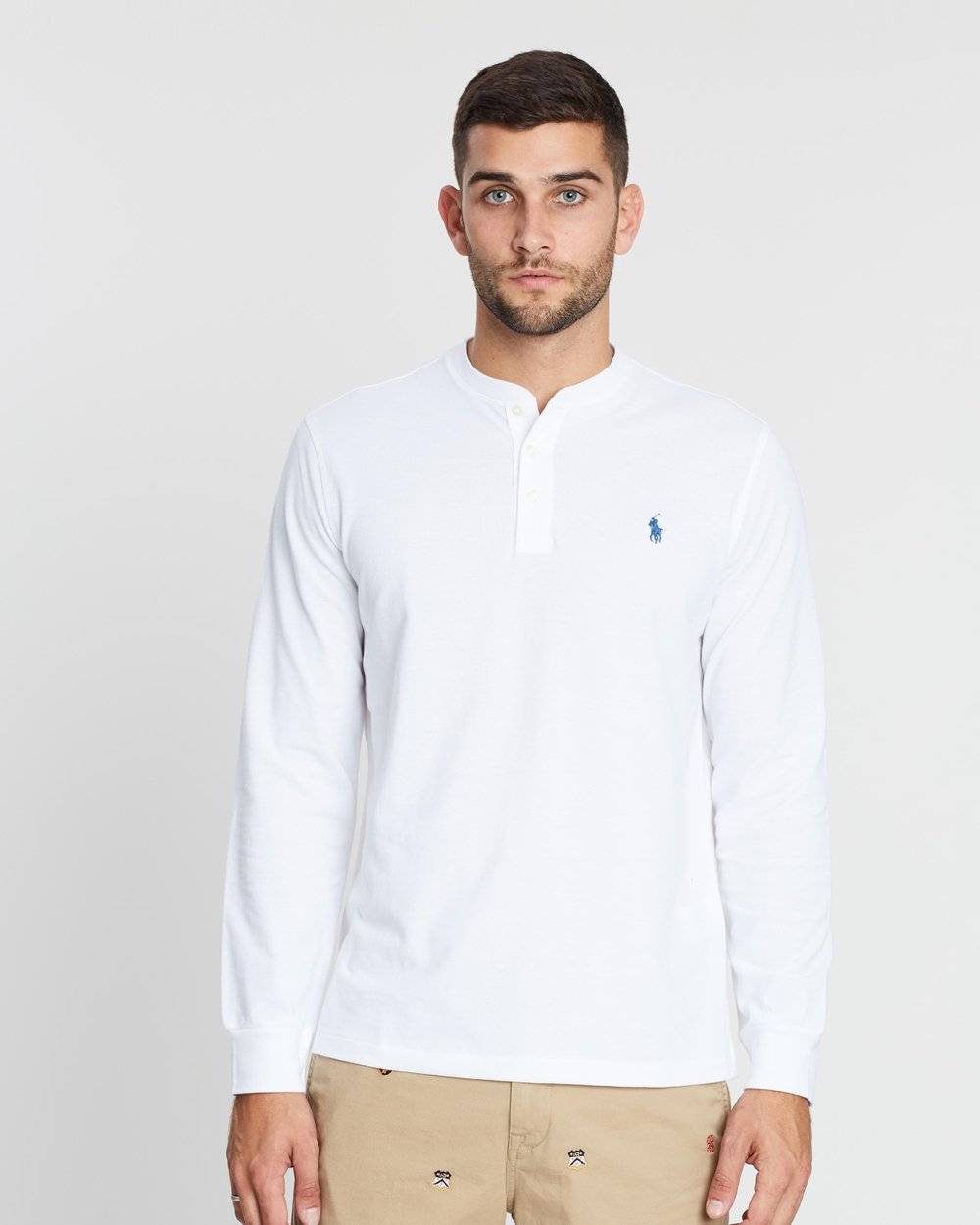 9c25cdf72 Featherweight Mesh Long Sleeve Henley by Polo Ralph Lauren Online | THE  ICONIC | Australia