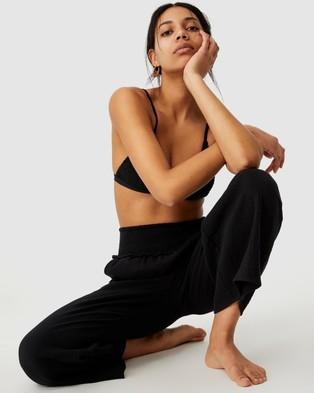 Cotton On Body Shirred Waist Beach Pants - Swimwear (Black)
