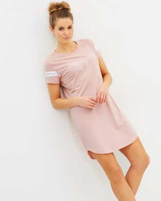 Aim'n – Short Sleeve Dress Pink