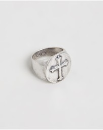Icon Brand - Croix Nouvelle Signet Ring