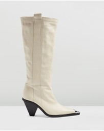 TOPSHOP - Tulip Point Knee High Boots