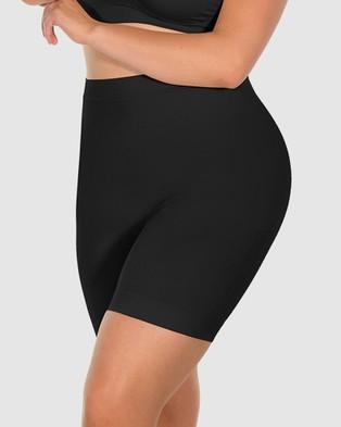 B Free Intimate Apparel Anti Chafing Shaping Shorts - Briefs (Black)