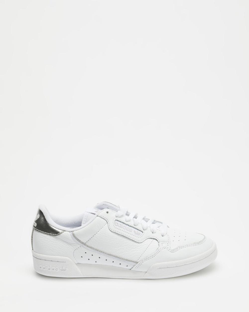 adidas Originals Continental 80 Women's Sneakers Cloud White, Cloud White & Silver Metallic