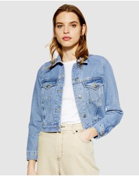 TOPSHOP Petite - Fitted Denim Jacket