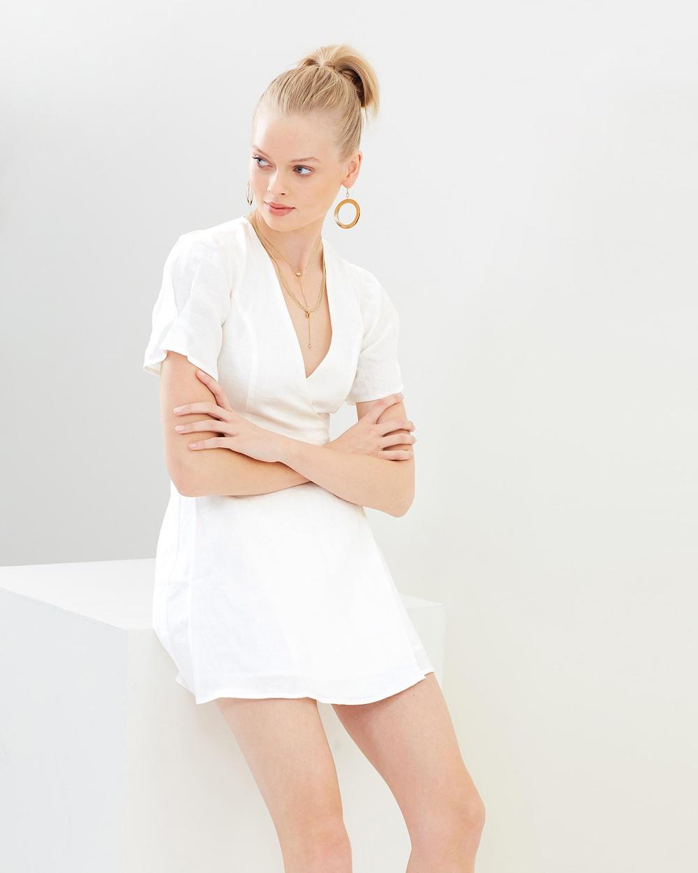 Hansen & Gretel Belle Linen Dress Dresses White Belle Linen Dress